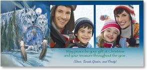 Christmas Card {Name}: May peace be your gift and treasure this year. Deal