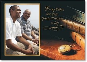 Father's Day Card: So thankful for the greatest gift you've given. your time. Deal