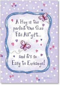 Encouragement & Support Card: A Hug is the perfect 'One Size Fits All' gift; Jude 2 Deal