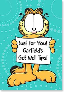 Get Well Card: 1. Feed a cold. Feed a fever. Feed everything.