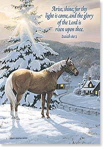 Christmas Card: May peace be your gift at Christmas w Isaiah 60:1 Deal
