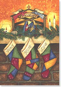 Christmas Card: God's gifts of peace, hope and love. w Psalm 100:5 Deal